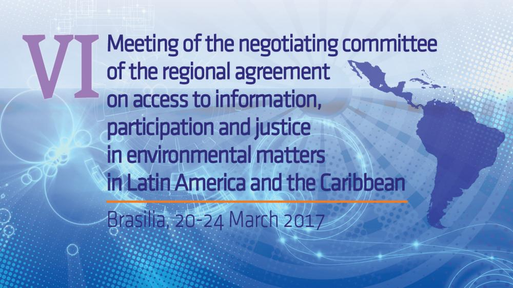 Sixth Meeting Of The Negotiating Committee Of The Regional Agreement