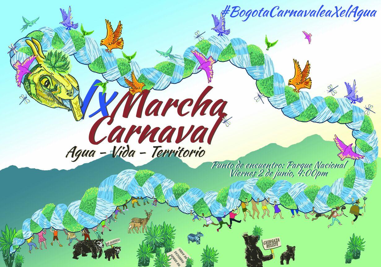 marcha-carnaval-agua-vida-Bogota-junio-2017