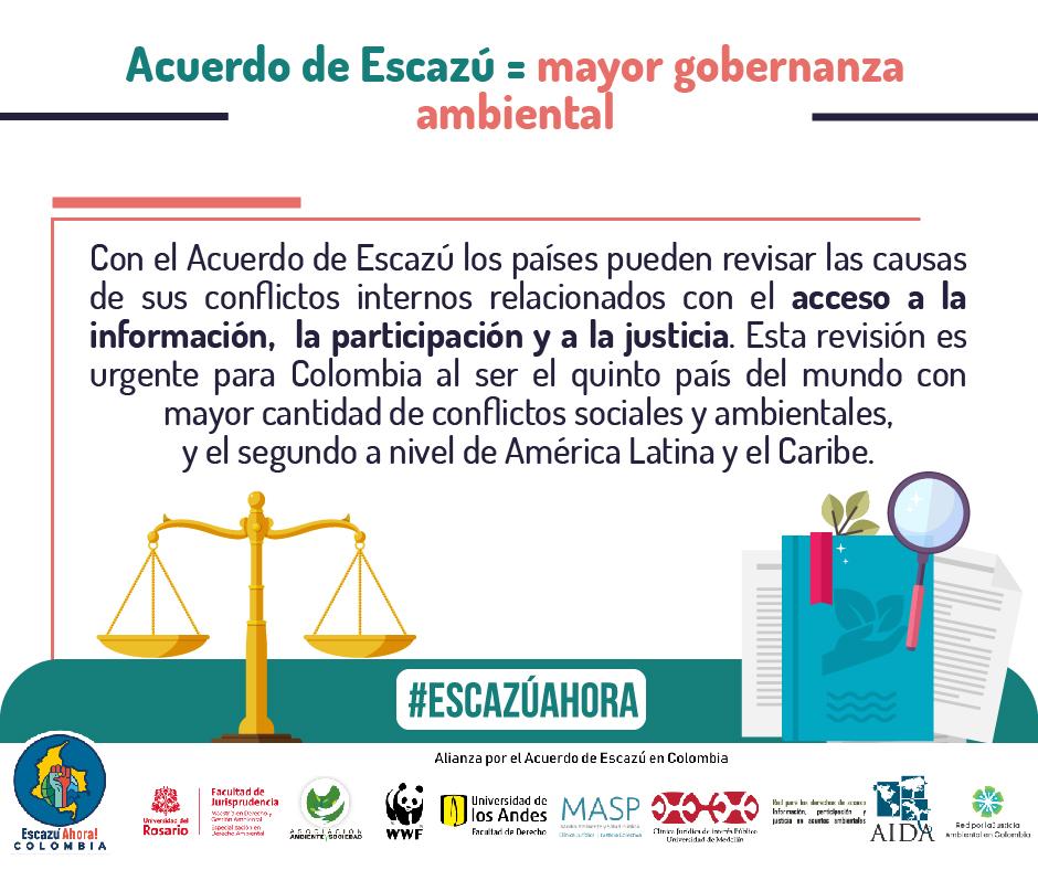 acceso a la informacion justicia ambiental escazu colombia