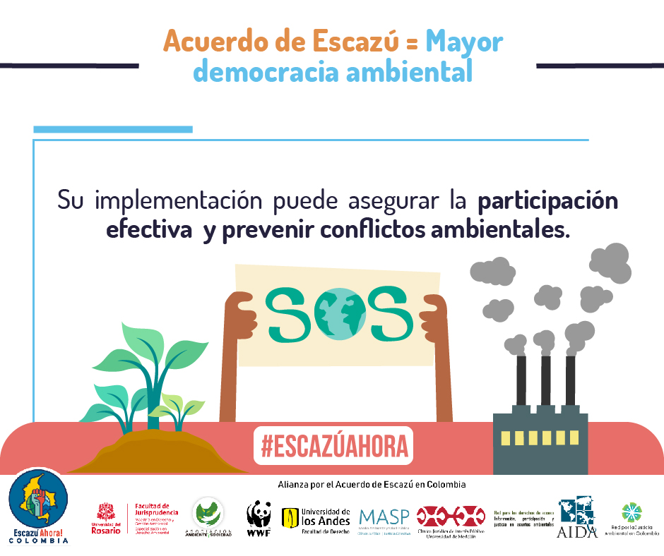 democracia ambiental escazu colombia