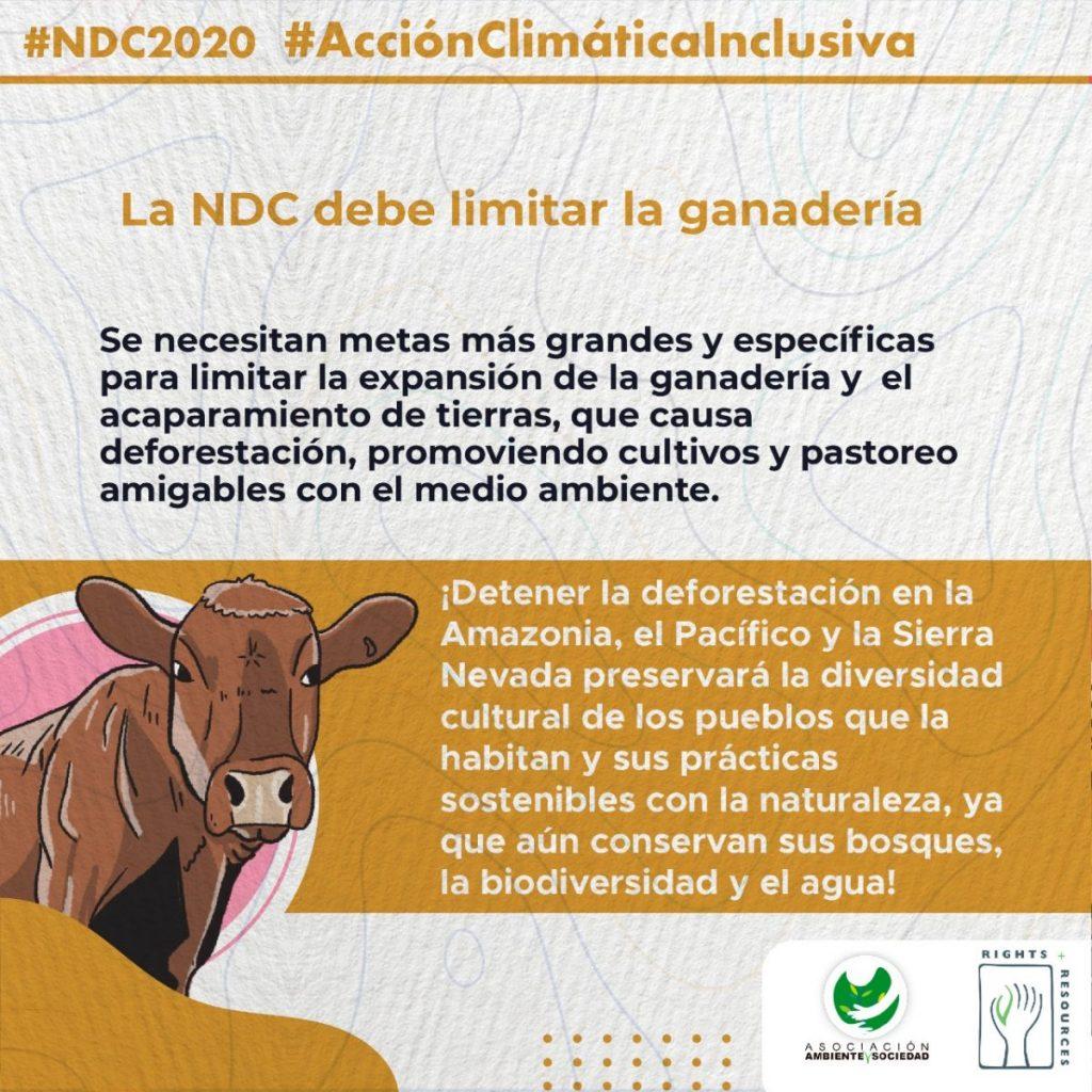 ganaderia compromisos climaticos deforestacion ndc